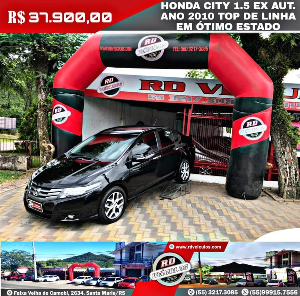Honda - HONDA CITY -  1.5 EX AUT. ANO 2010 TOP DE LINHA 90 MIL KM - 2010