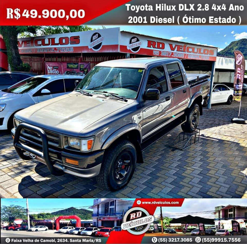 Toyota - HILUX - DLX 2.8 4x4 Ano 2001 Diesel ( Otimo Estado ) - 2001