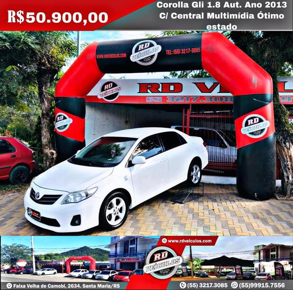 Toyota - COROLLA - GLI 1.8 ANO 2013 AUTOMÁTICO - 2013