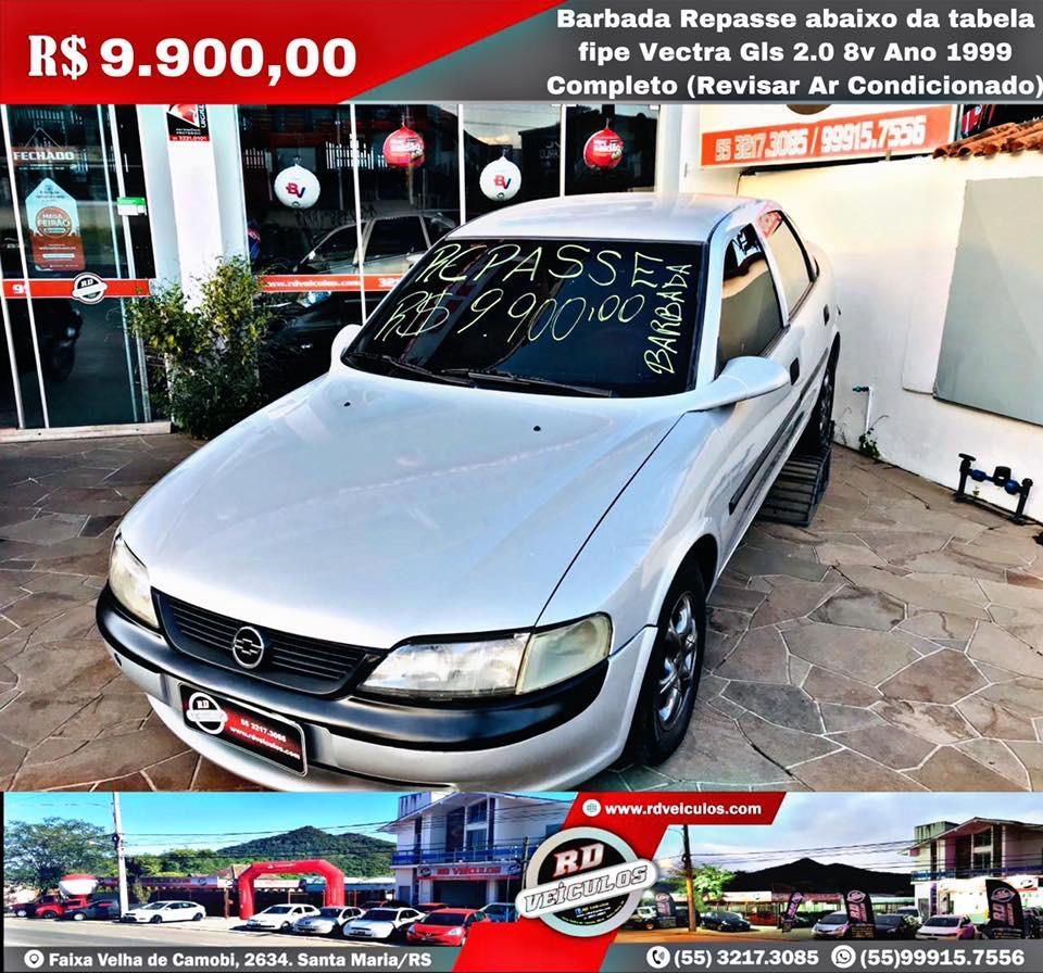 Chevrolet - VECTRA - Gls 2.0 8v Ano 1999 Completo ( Ar Revisar ) - 1999