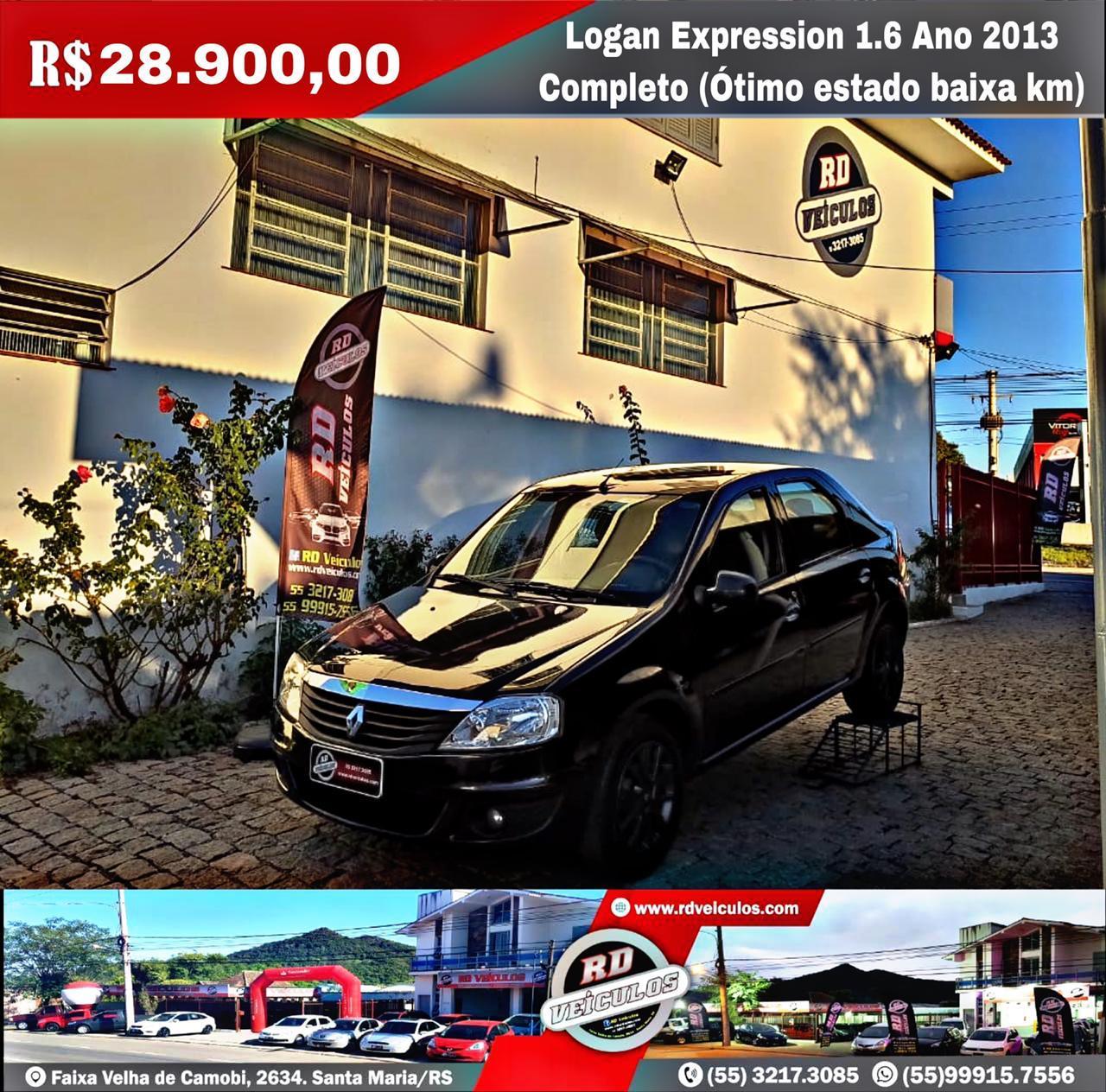 Renault - RENAULT LOGAN -  EXPRESSION 1.6 ANO 2013 COMPLETO COM BAIXO KM  - 2013